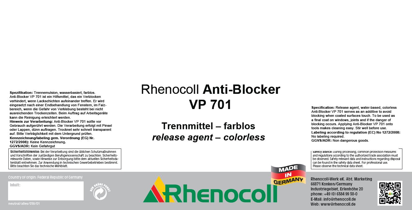 Rhenocoll Anti-Blocker VP 701